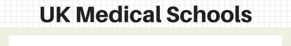 UK Medical Schools